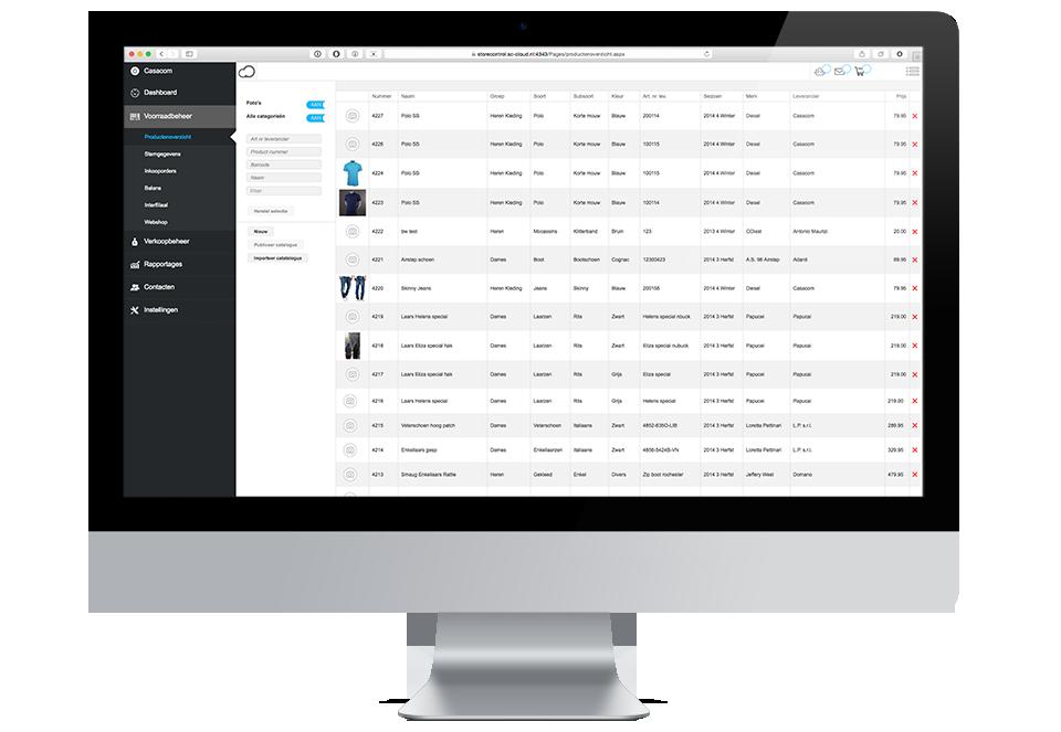 StoreContrl Cloud Webbased Voorraadbeheersysteem