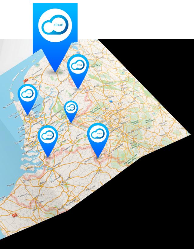 StoreContrl Cloud Kassasystemen Kaart met filialen