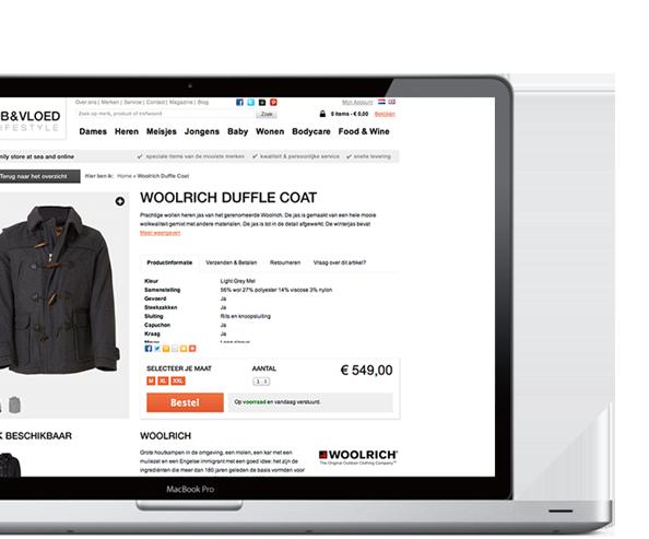 StoreContrl kassaysteem webshop met koppeling op laptop voor de retail
